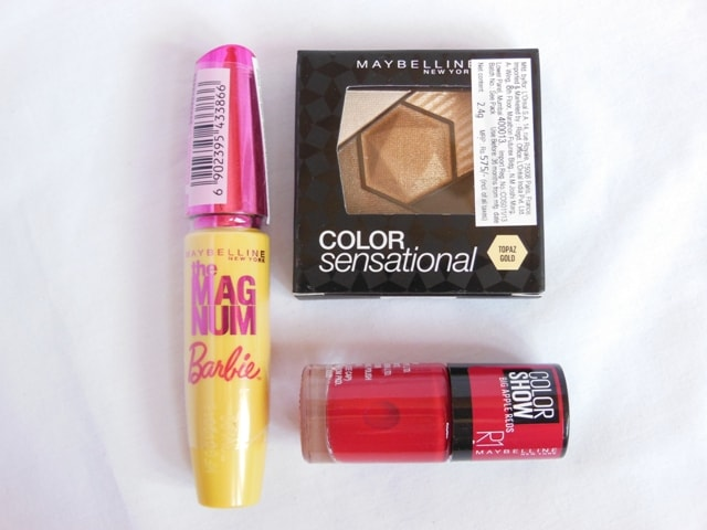 New Lauches Maybelline - The Magnum Mascara, Color Sensational Eye Palette, Red Apple Nail Paint