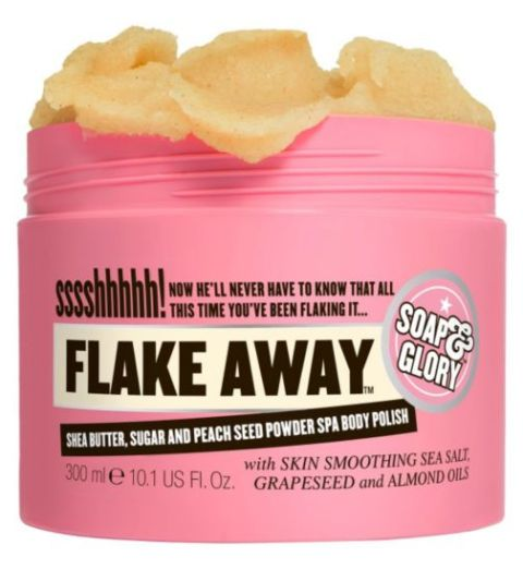 Best Body Scrubs for Dry Skin in India - Soap & Glory Flake Away Sugar Scrub