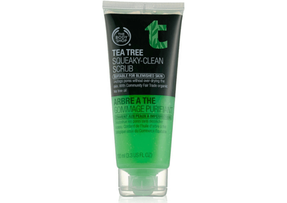 Best Face SCrub for Oily skin- The Body Shop Tea Tree Squeaky Clean Scrub