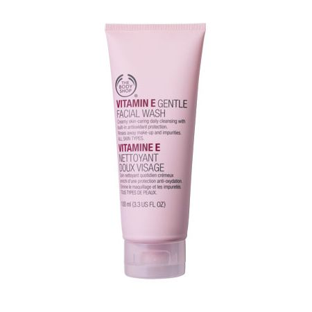 Best Face Washes for Dry Skin India- The Body Shop Vitamin E Gentle face wash