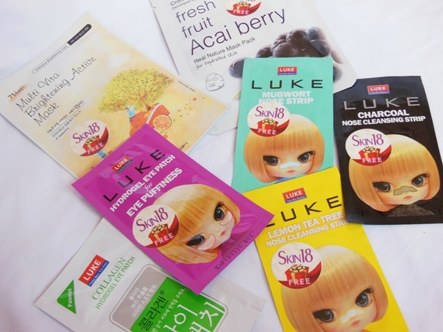 Face Masks, Nose Strips and Eye patches from Skin18.com