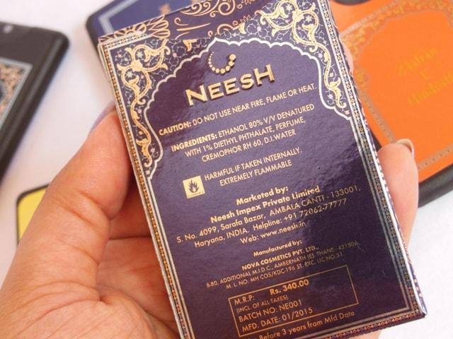 Neesh Eau Da Parfum Ingredients
