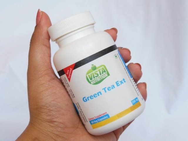 Vista Nutrition Green Tea Extract Packaging