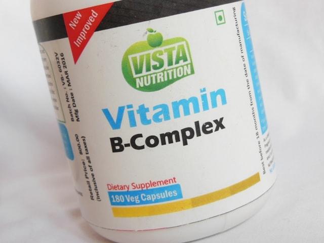 Vista Nutrition Vitamin B Complex Supplement Capsules Review