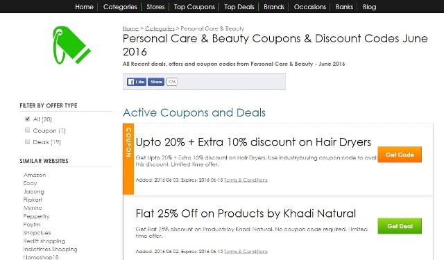 Coupons by Categories-CouponRovers