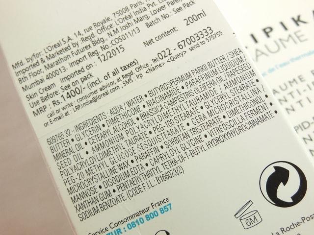 La Roche Posay Lipikar Baume AP+Ingredients