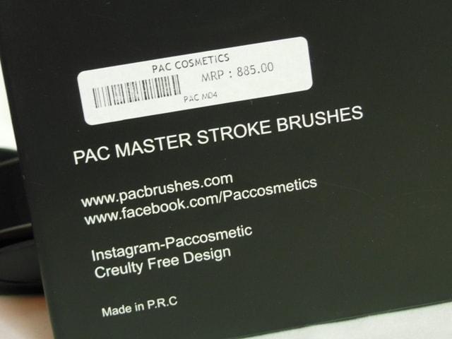 PAC Cosmetics Master Stroke Brushes 04 Price