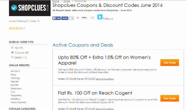 Shopclues Coupons-CouponRovers