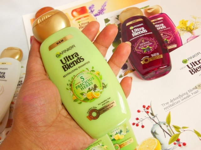 Garnier Ultra Blends - 5 Precious Herbs Shampoo Packaging