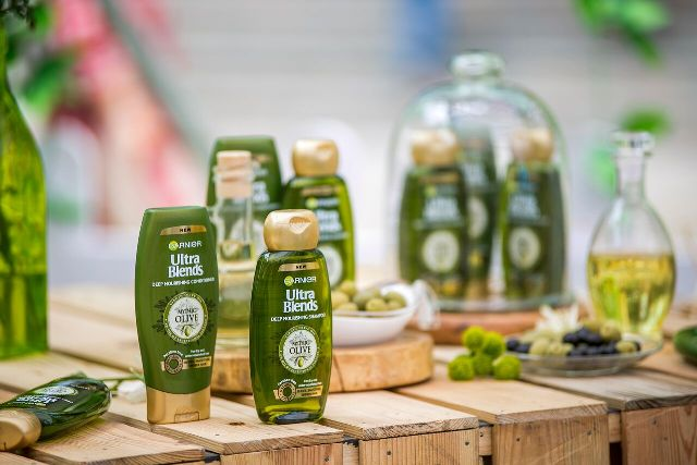 Garnier Ultra Blends Mythic Olive Shampoo and Conditioner Launch