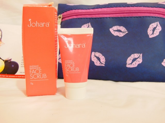July Fab Bag 2016 Review - Johara Instant Radiance Face Scrub