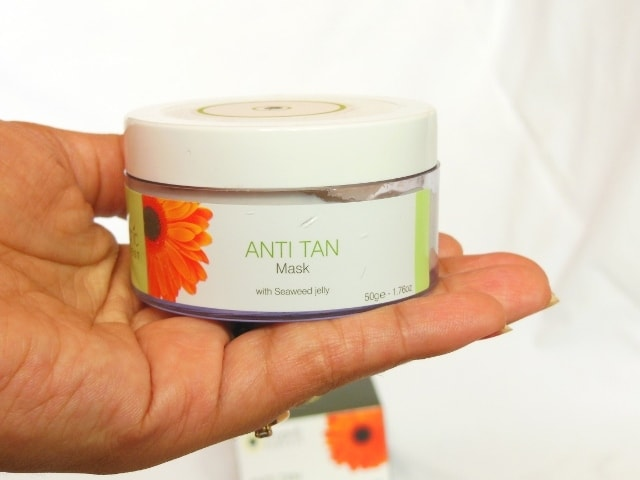 Organic Harvest Anti Tan Mask with seaweed Jelly