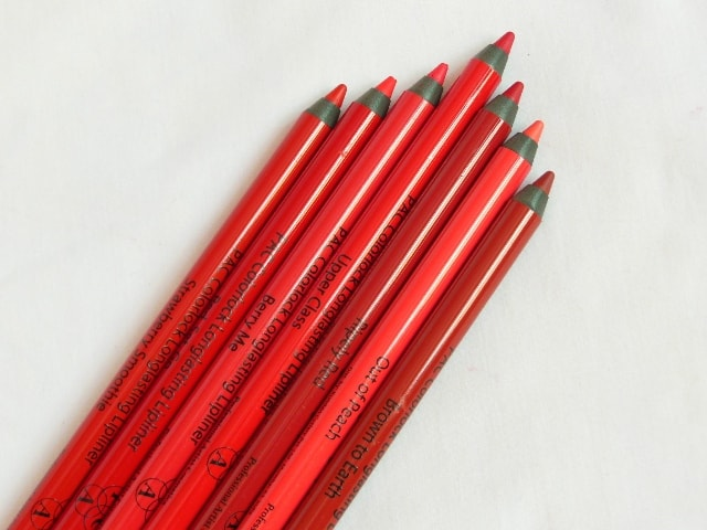 PAC Colorlock Lip Liners Review