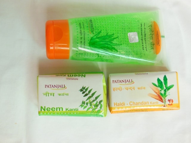 Patanjali Products - Aloe Vera Gel and Soaps