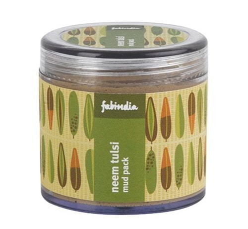 Best Herbal Face Packs for Oily Acne Prone Skin- FabIndia Neem Face Pack
