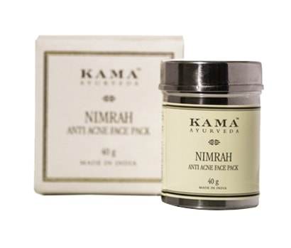 Best Herbal Face Packs for Oily Acne Prone Skin -Kama Ayurveda Nimurah Face Pack