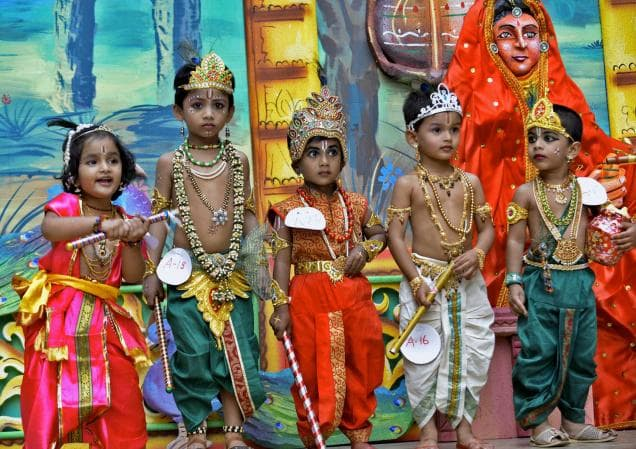 How to celebrate Janamashtami - Dress up as Krishna