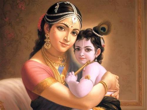 Krishna with Mother