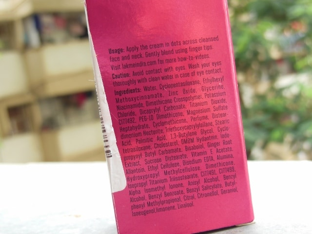 Lakme 9 to 5 Color Transform CC CReam Bronze Ingredients