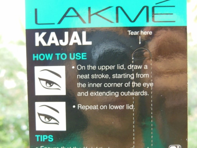 Lakme Eyeconic 22 hr Kajal Details