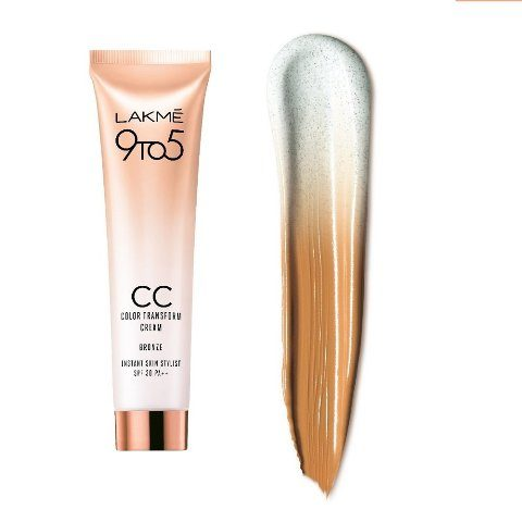 New Launch - Lakme 9 To 5 Complexion Care Color Transform CC Cream Swatch
