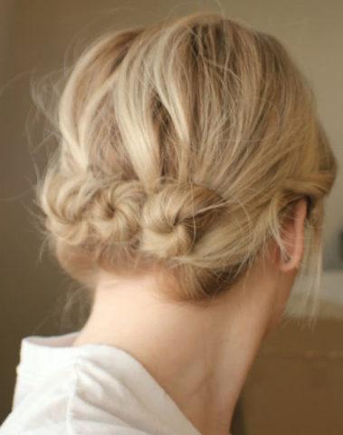 15 Best Hairstyles For Short Hair-Messy Back Bun