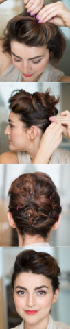 15 Best Hairstyles For Short Hair - Pin Up Bun