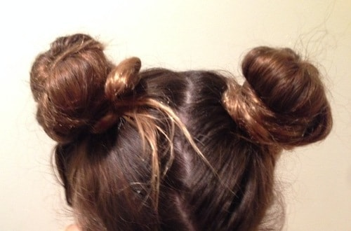 15 Best Hairstyles For Short Hair - Space Buns
