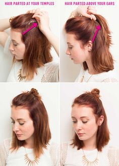 15 Best Hairstyles For Short Hair - Top Knots