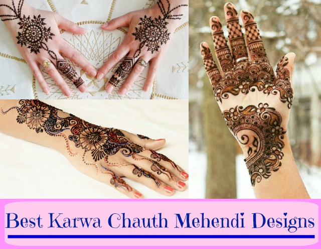 Best Karwa Chauth mehendi designs