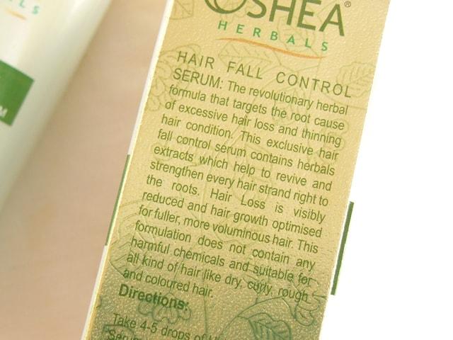 oshea-herbals-hairfall-control-serum-claims