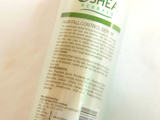 oshea-herbals-hairfall-control-serum-ingredients