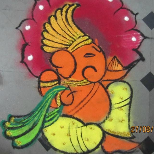 best-ganesha-rangoli-designs-shimmery-ganpati-rangoli-for-diwali