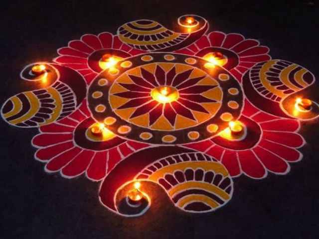 how to make white rangoli powder at home
