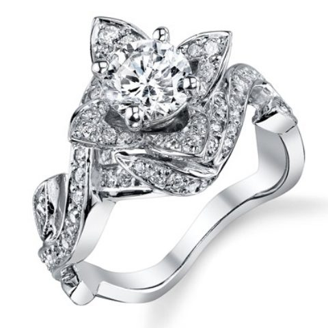 best-engagement-rings-for-brides-floral-shaped-diamond-ring-3