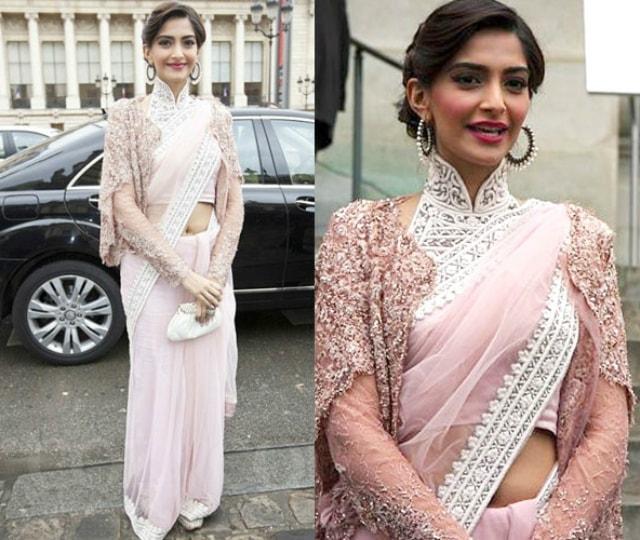 best-ethnic-looks-of-sonam-kapoor-sonam-kapoor-in-pink-saree