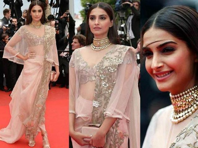 best-ethnic-looks-of-sonam-kapoor-sonam-kapoor-in-saree-on-red-carpet