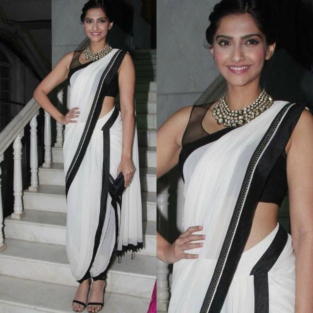 best-ethnic-looks-of-sonam-kapoor-sonam-kapoor-in-white-saree-on-red-carpet