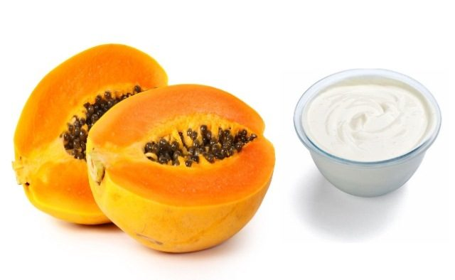 best-conditioner-for-dry-hair-papaya-and-yoghurt-pack
