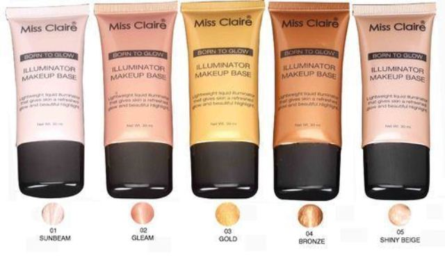 top-10-miss-claire-products-in-india-miss-claire-born-to-glow-highlighters